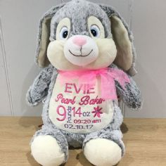 Personalised Bunny Rabbit Cubbie Teddy